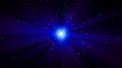 Digital binary object star in cyberspace - seamless loop Stock Footage