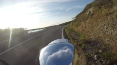 time lapse by motorcycle - stock footage