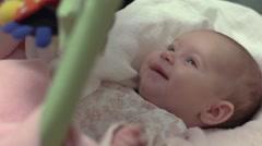 Newborn Baby Girl Smiling 01 - stock footage