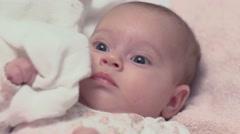 Newborn Baby Girl Smiling 02 - stock footage