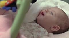 Newborn Baby Girl Smiling - stock footage