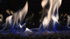 4K Modern Fireplace and Flame - stock footage