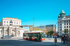VIENNA, AUSTRIA-April 19: old town main street on April 19, 2016.Vienna is th Stock Photos