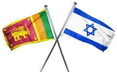 Sri lanka flag with Israel flag, 3D rendering - stock illustration