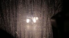 Car Following in Heavy Rain Stock Video - stock footage