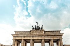 Brandenburg Gate (Brandenburger Tor), famous landmark in Berlin, Germany,rebu - stock photo