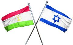 Tajikistan flag with Israel flag, 3D rendering Stock Illustration
