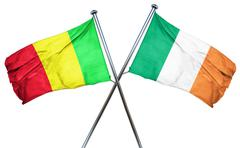 Mali flag with Ireland flag, 3D rendering - stock illustration