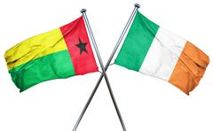 Guinea bissau flag with Ireland flag, 3D rendering - stock illustration