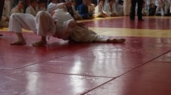 Little Girls - Judo Fighters Stock Footage