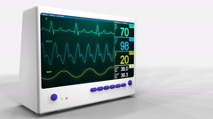 Heartbeat monitor. Stock Footage