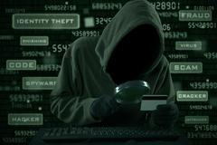Internet banking theft Stock Photos