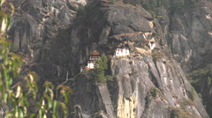 Tigers Nest Monastery - Zoom In Stock Footage