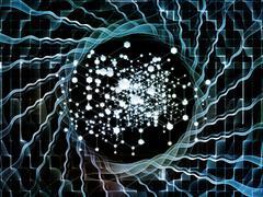 Visualization of Atoms - stock illustration