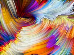 Vivid Color Vortex - stock illustration