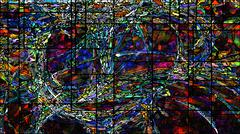 Virtual Stained Glass - stock illustration