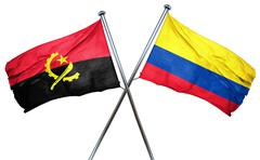 Angola flag with Colombia flag, 3D rendering Stock Illustration