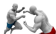 Martial Arts Training Stock Illustration