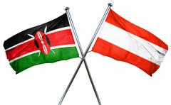 Kenya flag with Austrian flag, 3D rendering Stock Illustration
