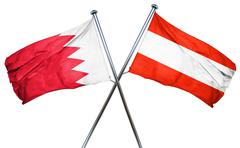 Bahrain flag with Austrian flag, 3D rendering Stock Illustration