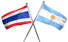 Thailand flag with Argentina flag, 3D rendering Stock Illustration