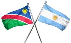 Namibia flag with Argentina flag, 3D rendering Stock Illustration