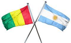 Guinea flag with Argentina flag, 3D rendering - stock illustration