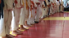 The Awards ceremony. Children Martial arts - stock footage