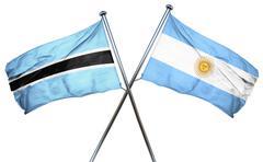 Botswana flag with Argentina flag, 3D rendering Stock Illustration