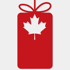 Canada Day cut out tag card in vector format. - stock illustration