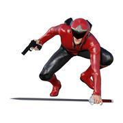 3D Rendering Male Hero on White Stock Illustration