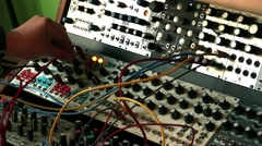 Regulating Modular Synthesizer for noise sound music Stock Footage