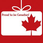 Canada Day cut out tag card in vector format. Stock Illustration