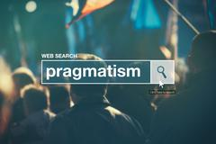 Web search bar glossary term - pragmatism - stock photo