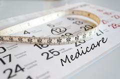 Medicare text concept Stock Photos