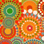 Textile color retro background ornament circles - stock illustration