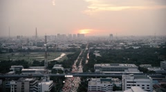 Bangkok ,Capital city of Thailand time-lapse in urban scene at sunset sky and Stock Footage