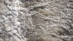 Flow and waterfall of water in the river, slow motion Stock Footage