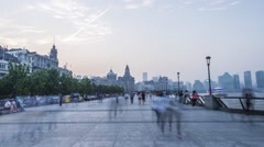 Sunset to dusk in Shanghai Stock Footage