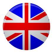 United Kingdom of Great Britain flag icon flat - stock illustration