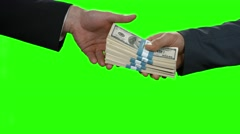Businessman's hand passes dollars. - stock footage