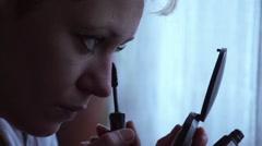 Eyelashes with mascara! - stock footage