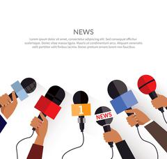 News Banner Template. Set of Microphone Stock Illustration