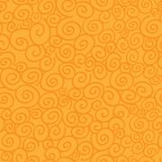 Seamless pattern with curls on orange background Stock Illustration