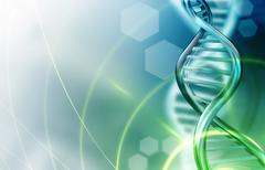DNA strands background - stock illustration