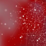 Red Technology Background with Particles - stock illustration