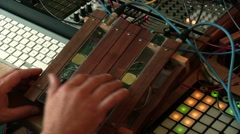 Playing Sidrazzi Organ - stock footage