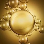 bubbles in oil - stock illustration