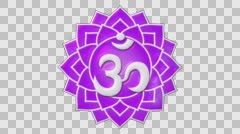 Seventh Chakra Sahasrara Or Crown Chakra Stock Footage