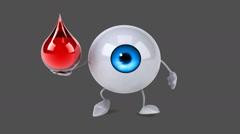 Fun eye - Computer animation Stock Footage